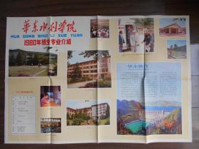 1980年【华东水利学院】招生宣传海报