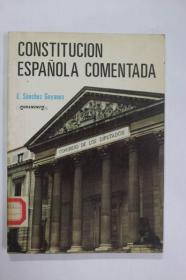 西班牙文原版 西班牙宪法CONSTITUCION ESPA?OLA COMENTADA
