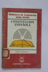 西班牙文原版 西班牙宪法CONSTITUCION ESPA?OLA全文