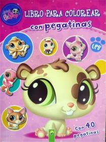 西班牙语原版   少儿画册涂色书    Libro Para Colorear: Con Pegatinas (附2页贴纸)