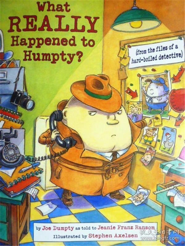 英文原版   少儿绘本故事 幽默侦探   What Really Happened to Humpty?
