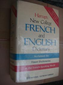 Harraps New College FRENCH and ENGLISH Dictionary:acclaimed the finest dictionaries in the French-speaking world  法英双向字典 精装16开+书衣  1781页,重