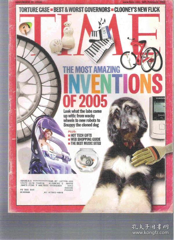 |最佳英语阅读资料最好英语学习资料|英语杂志 TIME 2005年11月21日 US Edition