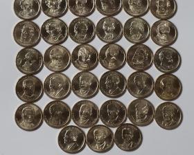 美国总统币39枚.含第1-38和40任.美国总统纪念币.美国总统币硬币