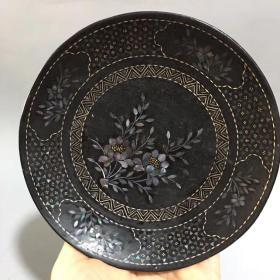古玩古董收藏 精品老货 漆器盘