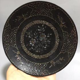 古玩古董收藏 精品老货 漆器盘2