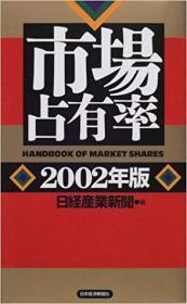 日文原版书 市场占有率〈2002年版〉 日経产业新闻 (编集) 世界市场