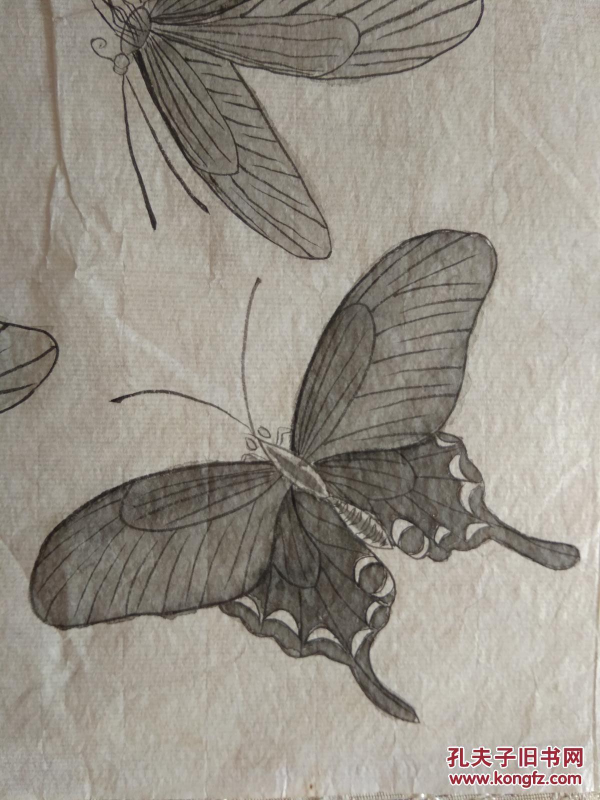工笔画 (蝴蝶)