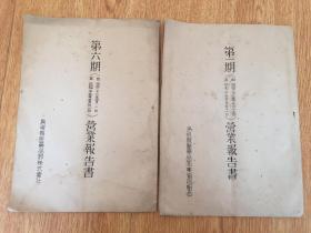 1948年日本印刷《岛根县医药品商业协同组合会-营业报告书》两薄册
