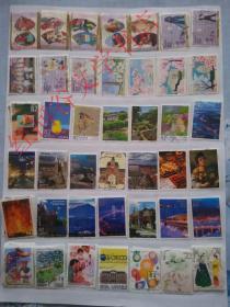 外国邮票·日本信销邮票100种不同·(日本1960-2016之间正式发行的纪念邮票、地方邮票、问候邮票等等,不含小普票和小生肖,最多可做到1000种不同)