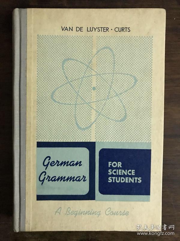 1955年德文原版《科学上用的德文文法》