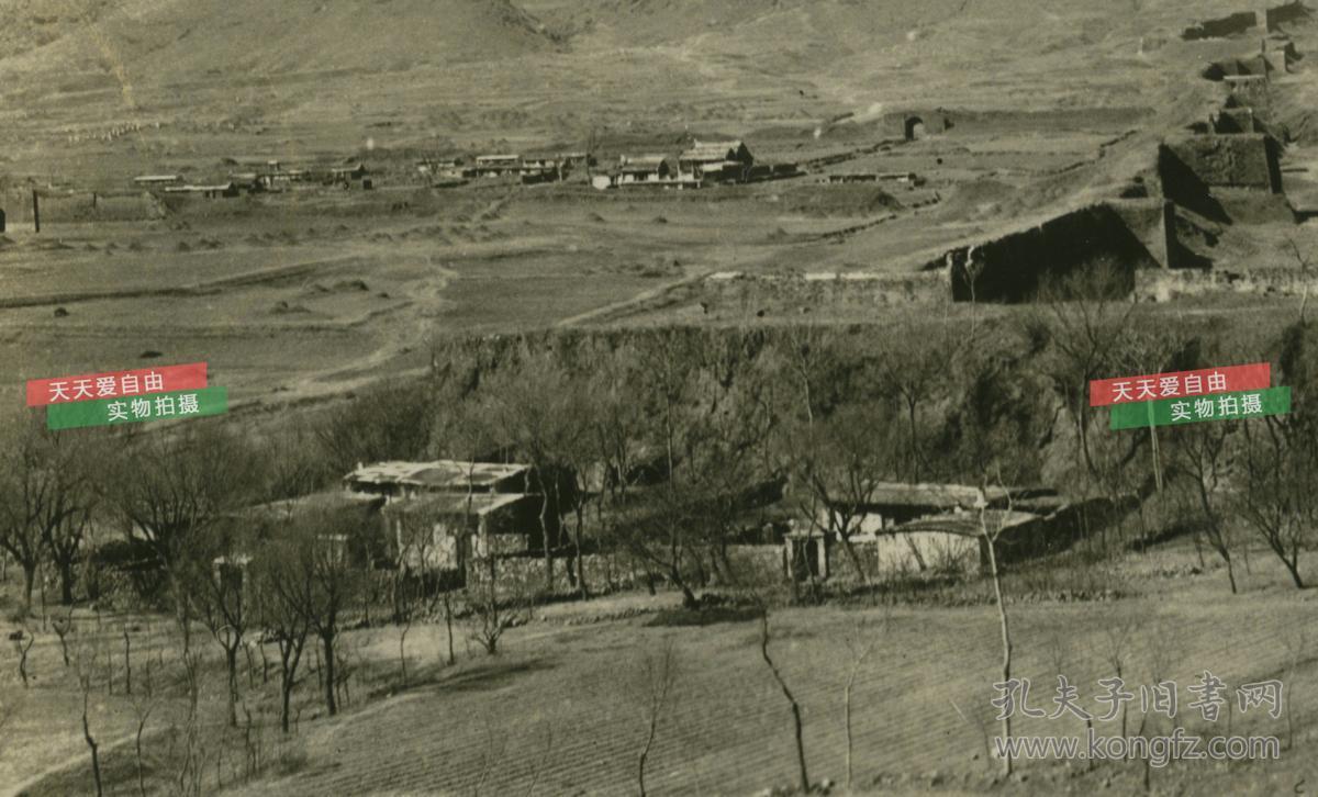 民国河北省秦皇岛山海关蜿蜒长城和城池建筑老照片,泛