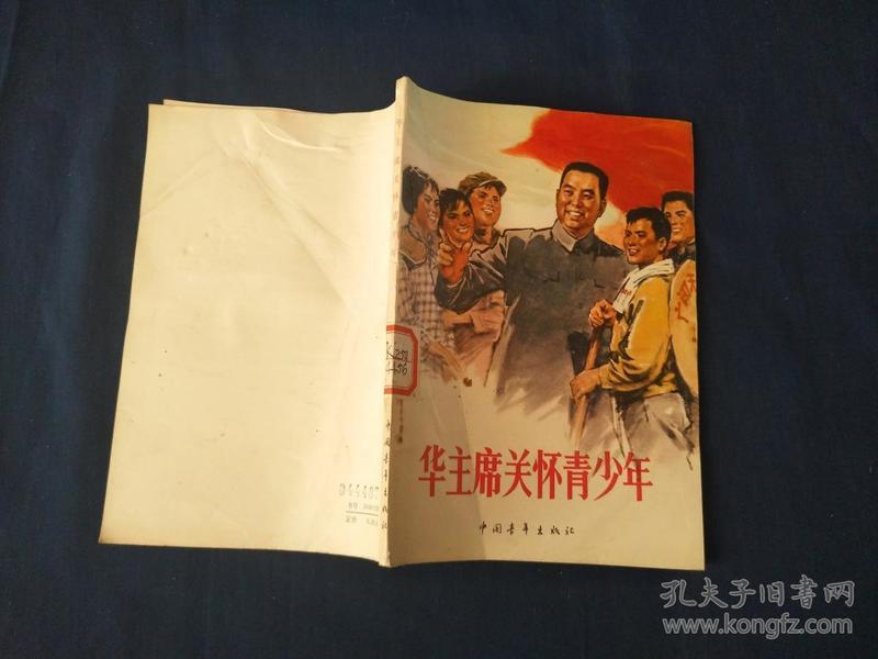 华主席关怀青少年--宣传画封面   馆藏