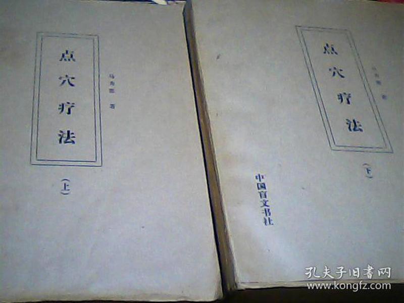 点穴疗法(上、下全二册 盲文版)