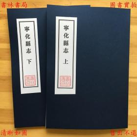 宁化县志-(清)李世熊修纂-清同治刻本缩印本(复印本)