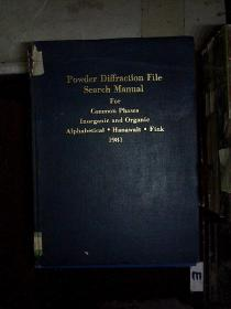 powder diffraction file searcg manual 1981