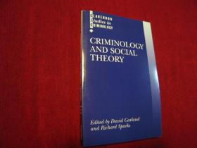 Criminology and Social Theory (进口原版,国内现货)