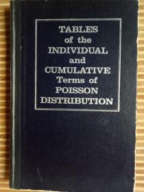 泊松分布个体项与累积项用表《英文版》