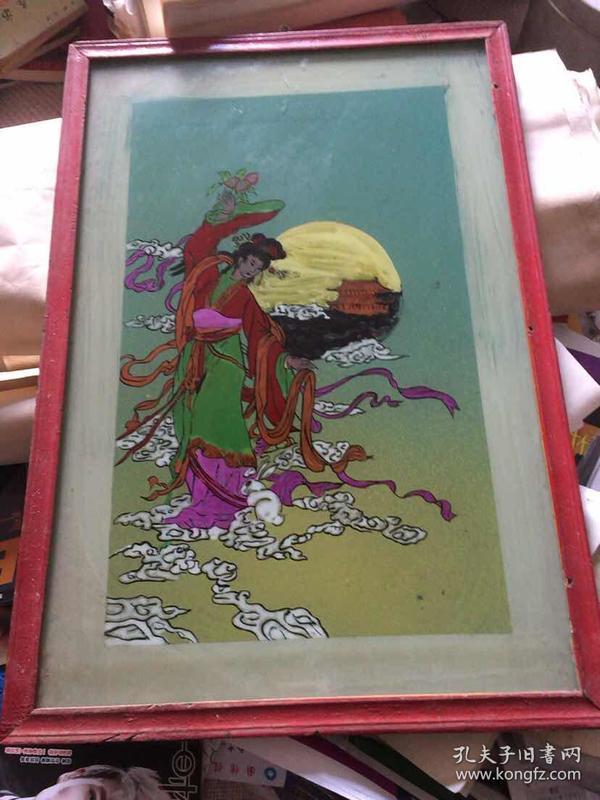 老漆画 手绘老漆画 嫦娥仙子