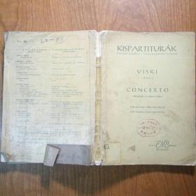 德文原版乐谱:CONCERTO维斯基,小提琴协奏曲