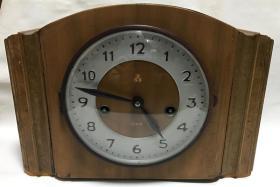 上海三五老座钟五十年代公私合营老钟表15天机械座钟正常走时