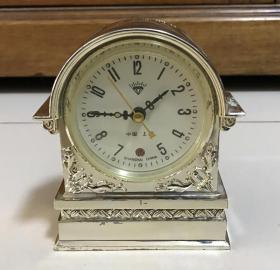 老闹钟收藏上海钻石老闹钟机械台钟全铜机芯正常走闹