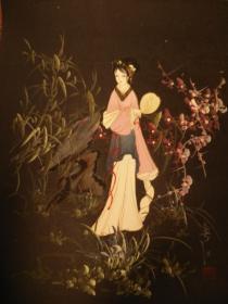 江南美女啊,我爱你,细腻的笔法,生动的面容,精美的手画的栩栩如生,48*38纯手绘jmei精美的油画,保真