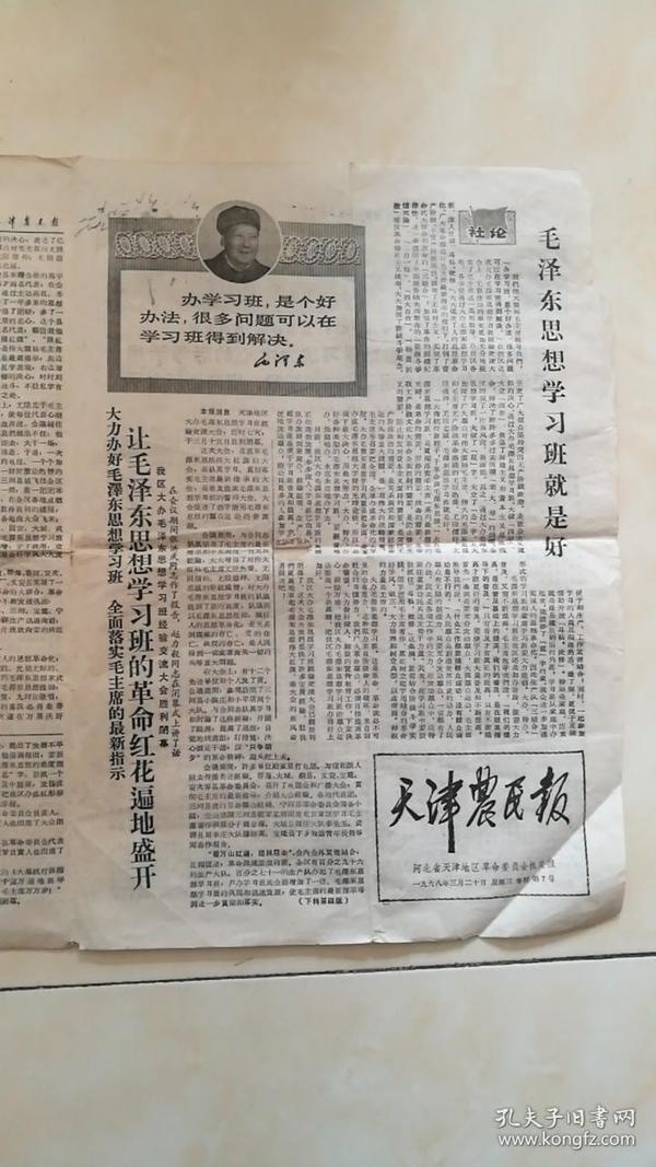 文革天津农民报(河北省天津地区机关报)