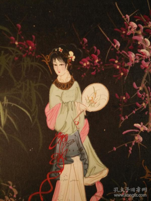 江南美女啊,.我爱你,细腻的笔法,生动的面容,精美的手画的栩栩如生,48*38纯手绘jmei精美的油画,保真