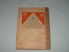 新文学    前梦     叶鼎洛著    1929年版   光华书局出版