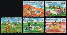 格林纳达邮票---- 米奇在澳大利亚