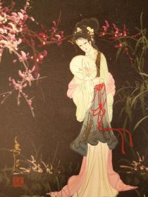 江南美女啊,我爱你,细腻的笔法,生动的面容,,精美的手画的栩栩如生,48*38纯手绘jmei精美的油画,保真