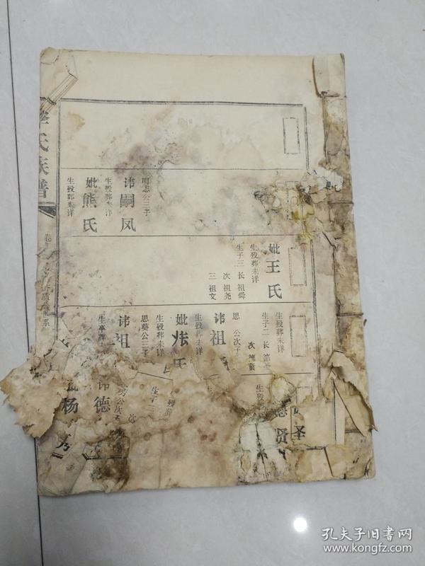 陇西堂李氏族谱 卷二 长房齐质公世系