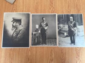 民国日本印刷《明治天皇》、《大正天皇》、《乃木希典大将》三张