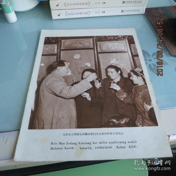 毛泽东主席接见新疆各族妇女代表玛依努尔等同志