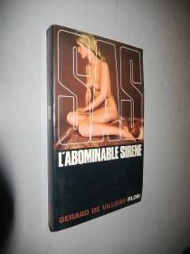 Sas Abominable Sirène  Gérard De Villiers 法文原版