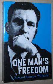 英文原版书 One Mans Freedom Paperback –  2010 by Edward Bennet Williams (Author)