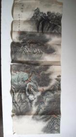 """丙寅(1986)年-中国语言逻辑大学教授、天津画家崔英""""风松图""""传统山水画"""