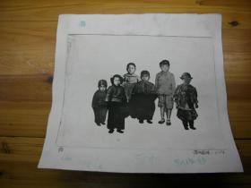 铜版画一张  (李晓林 )(32.7*34.2厘米)