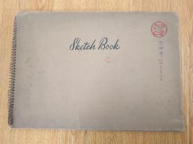 1946年日本美术手绘稿本一薄册