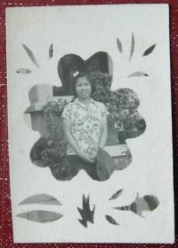 老照片:美女,给爱兰学姐,学妹正远,于1964【陌上花开系列】