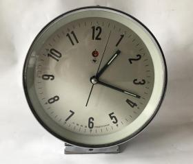 怀旧老闹钟收藏金鸡牌机械老闹钟全铜机芯台钟走闹正常