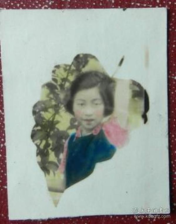 老照片:美女,送给修仁挚友,安南赠,手工上色【陌上花开系列】