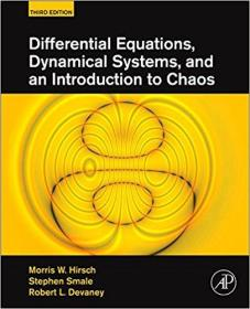 Differential Equations, Dynamical Systems, and an Introduction to Chaos, Third Edition 微分方程、动力系统与混沌引论