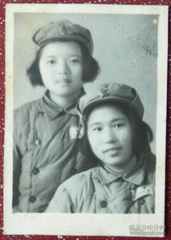 老照片:美女,女兵,解放军,给修仁,1952【陌上花开系列】