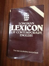 LONGMAN  DICTIONARY LONGMAN LEXICON OF CONTEMPORARY ENGLISH