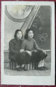 老照片:美女,给莎莎忆念,文姐,1950年【陌上花开系列】