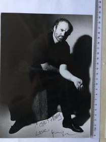 世界顶级奢侈品品牌 范思哲 创始人 时尚帝王  乔瓦尼·詹尼·范思哲 1990年亲笔签名照