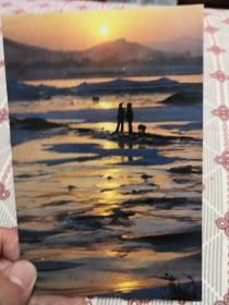 明信片:松花江畔