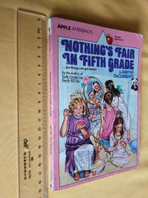 英文原版 Nothing's Fair in Fifth Grade by Barthe Declements